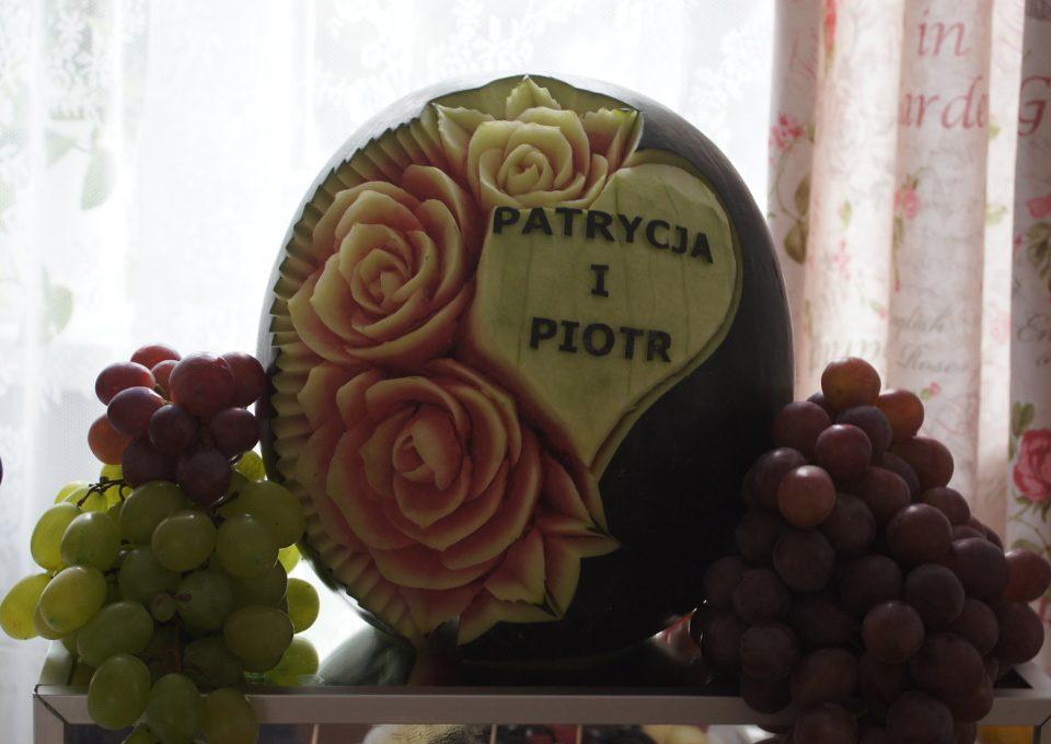 carving, dekoracje owocowe, stoły owocowe
