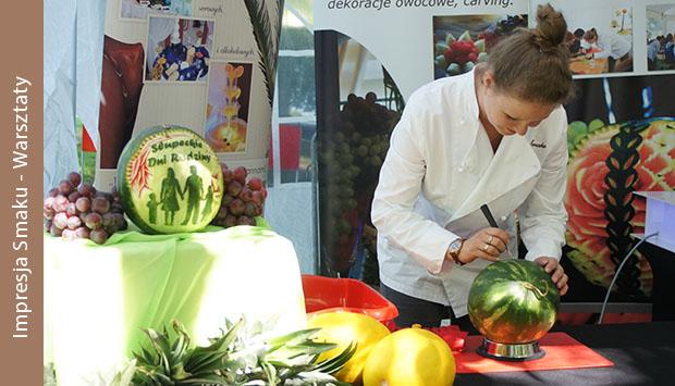 Pokazy carvingu, warsztaty fruit carving Koło, Łódź, Poznań, Warszawa