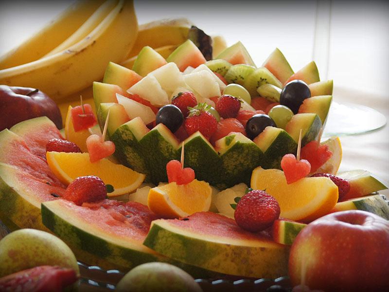 Dekoracje owocowy stół