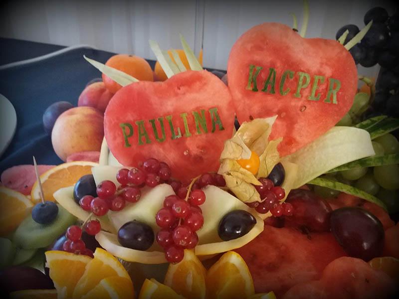 Owocowe serca na imprezy