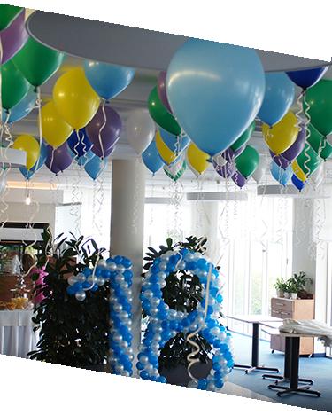 dekoracje balonowe, balony z helem, balonowe cyfry, balony na 18stkę, balony na wesele, balony na imprezę firmową, balony na event, HP Park Poznań
