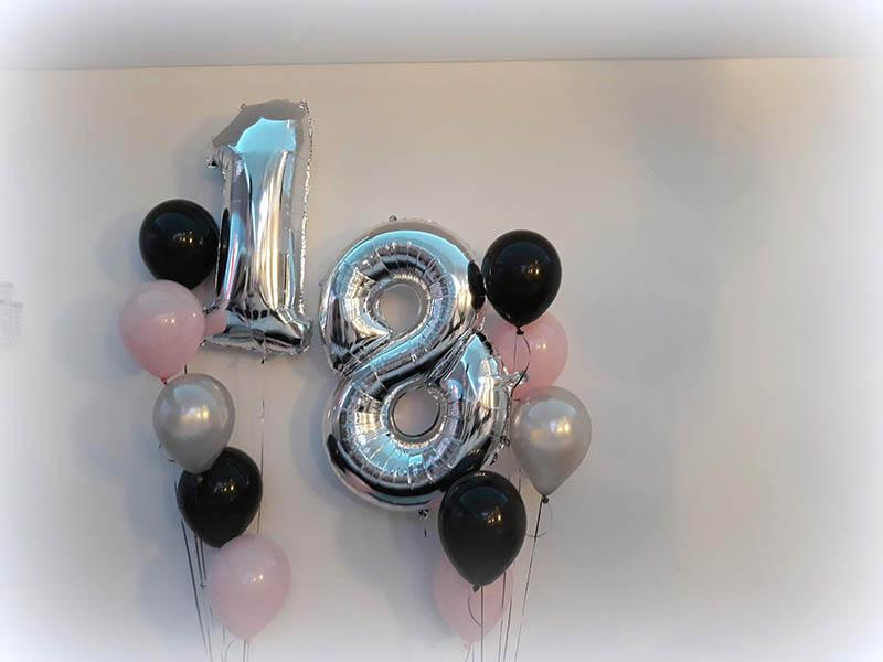 cyfry-balonowe-18-balony-cyfry-z-helem-dekoracje balonowe na 18skę