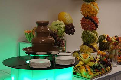 fontanna czekoladowa, stół owocowy, palma owocowa Turkovia w Turku