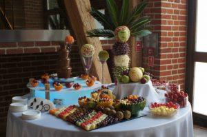Bufet owocowy i fontanna czekolaowa Zamek Topacz Ślęza