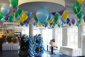 dekoracje balonowe, balony z helem HP Park Poznań, cyfry balonowe Poznań
