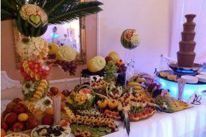STÓŁ OWOCOWY Staropolski Olszówka, dekoracje owocowe Zajazd Staropolski Turek, fontanna czekoladowa Turek, stół z owocami, bufet owocowy