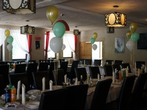 balony na I Komunię, dekoracje balonowe na I Komunię, balony z helem Restauracja Klisza Wola Grzymkowa, turek, Łódź, koło
