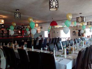 balony na Komunię, dekoracje balonowe na I Komunię, balony z helem Restauracja Klisza Wola Grzymkowa, turek, Łódź, koło