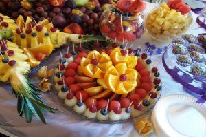 lustra owocowe, lustra z owocami, stół z owocami, fruit carving Koło, Turek, Łódź, Kalisz, Sompolno