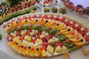 lustra owocowe, lustra z owocami, stół z owocami, fruit carving Koło, Turek, Łódź, Ostrów Wlkp., Kalisz.JPG