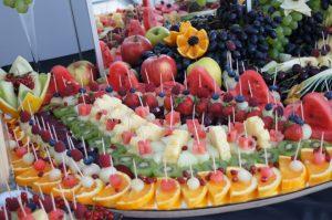 lustra owocowe, lustra z owocami, stół z owocami, fruit carving Koło, Turek, Łódź, Warszawa