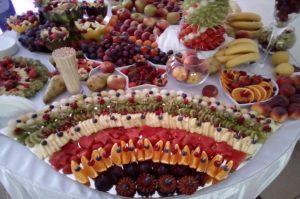 lustro z owocami, lustra owocowe, stół z owocami, fruit carving Koło, Turek, Łódź, Konin, Kłodawa