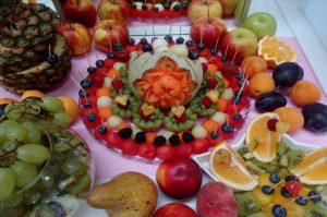 lustro z owocami, lustra owocowe, stół z owocami, fruit carving Koło, Turek, Łódź, Konin, Kalisz,Września