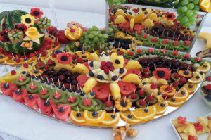 lustro z owocami, lustra owocowe, stół z owocami, fruit carving Turek, Koło, Łódź, Konin, Kalisz, Sompolno