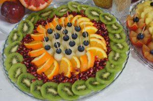 lustro z owocami, stół z owocami, fruit carving Koło, Turek, Łódź, Konin, Kalisz,Września