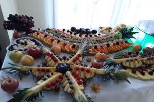 lustro z owocami, stół z owocami, lustra owocowe, fruit carving Koło, Turek, Łódź, Konin, Kłodawa