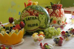 tort owocowy, tort z arbuza, owocowe przyjęcia dla dzieci, fruit party, owoce na imprezę dla dziecka Koło, Konin, Turek, Kłodawa
