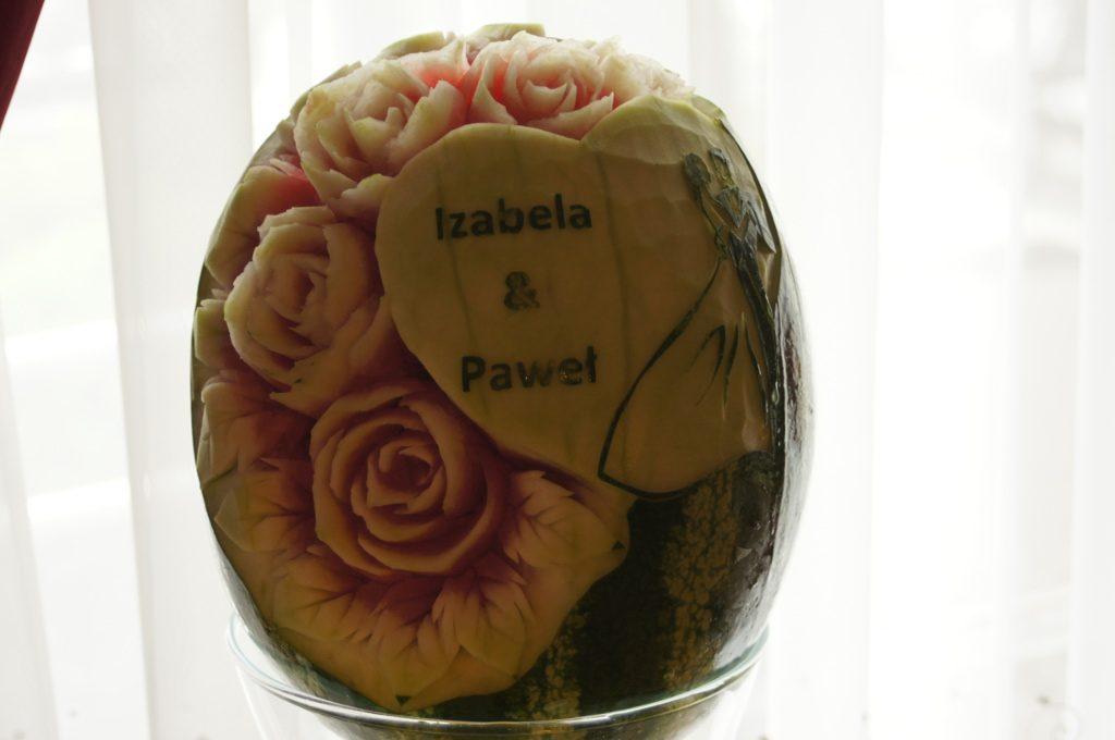 rzeźbione arbuzy, fruit carving, dekoracje owocowe
