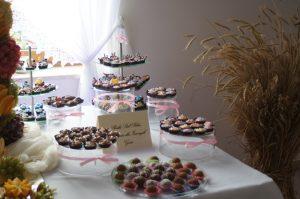słodkości na imprezę, bankiet, , candy-bar, deserki na słodki stół Koło, Turek, Konin, Łódź