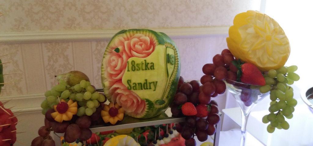 dekoracje owocowe, stół owocowy, fruit carving Pabianice_wyróżniający