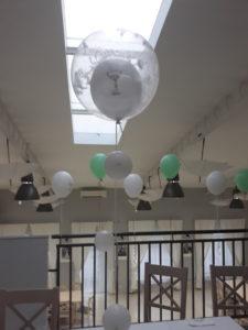 balony z helem na komunie, dekoracje na komunię, dekoracje balonowe na komunię Koło, Turek, Konin, Łódź, Warszawa