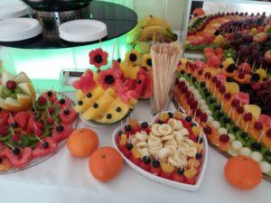 stół owocowy, fruit carving, fruit bar, Biały Pałac Konstantynów Łódzki