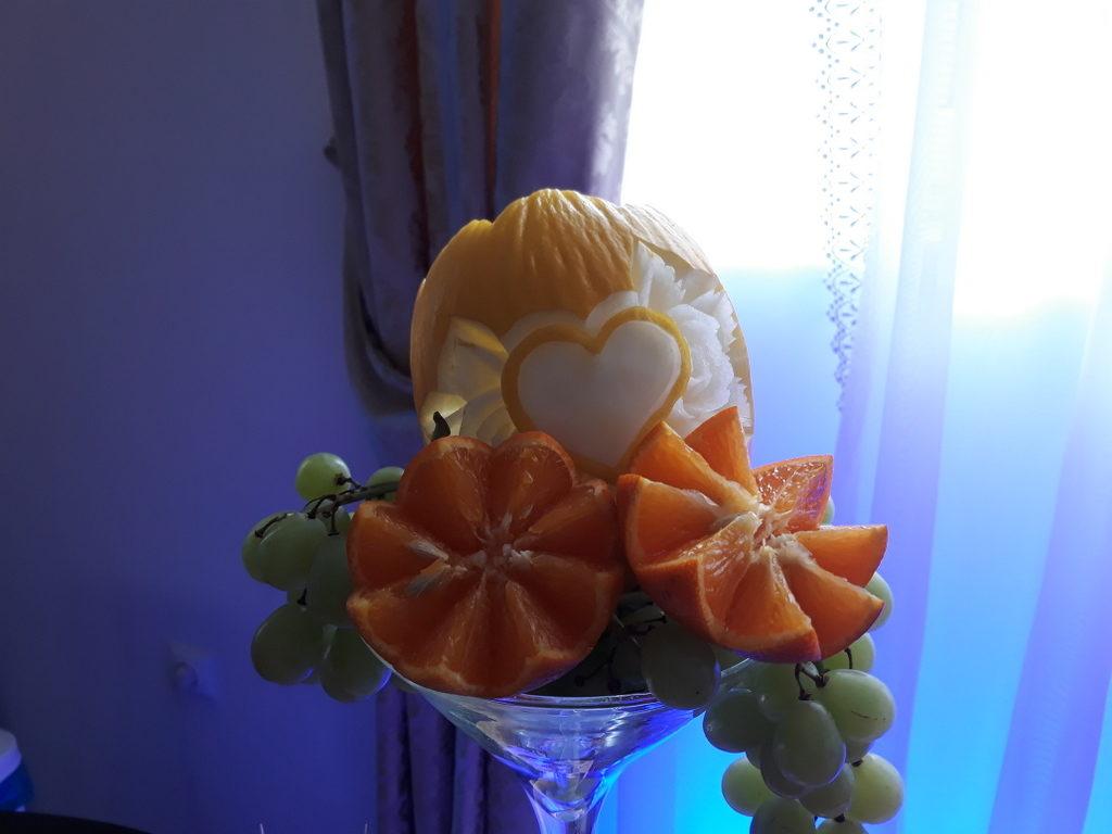 fruit carving,fruit bar, stół z owocami, Łódź