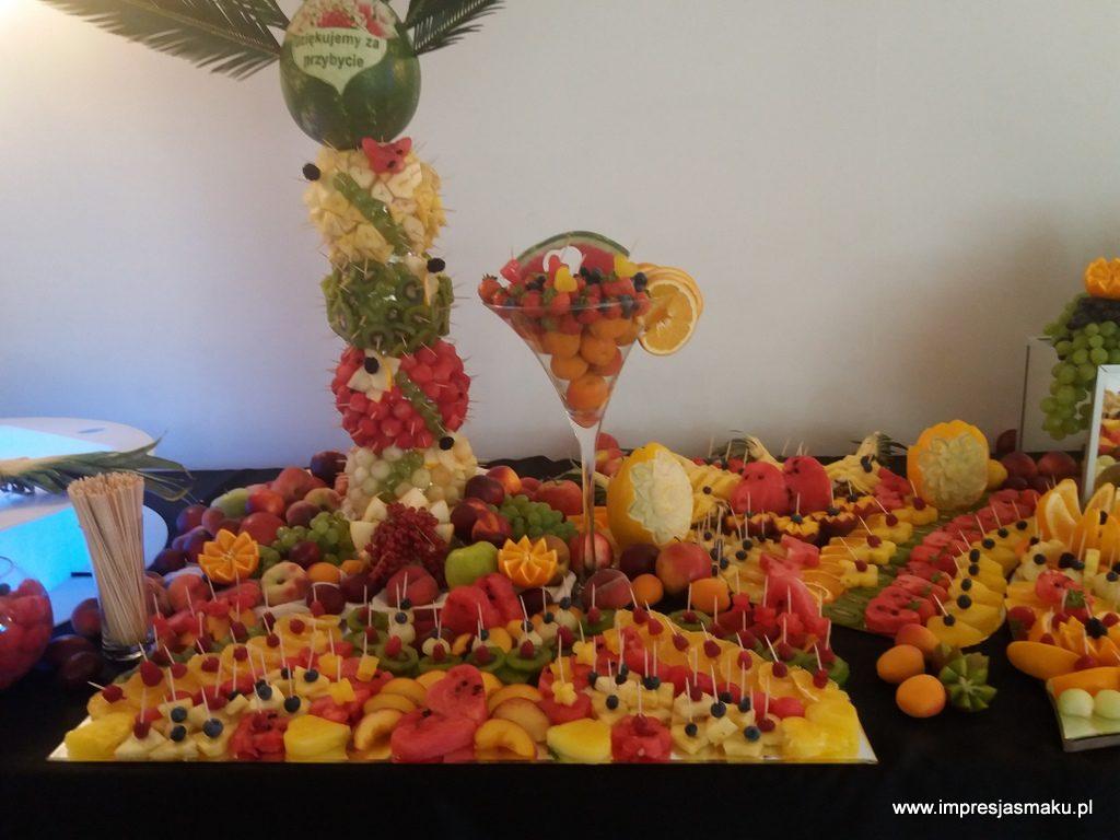 palma owocowa, , fontanna czekoladowa, dekoracje owocowe, fruit carving, stół owocowy, fruit bar, Warszawa, Łódź, Turek, Konin, Kalisz
