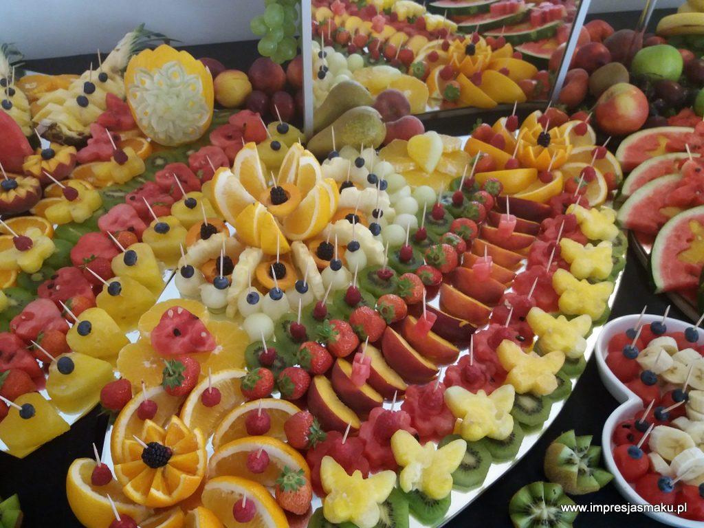 stół owocowy, fruit bar, fruit carving, dekoracje owocowe, fontanna czekoladowa, palma owocowa, Warszawa, Łódź, Turek, Konin, Kalisz