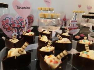 słodki bar, deserki czekoladowe, fingerfood, czekoladowe minideserki, shoot