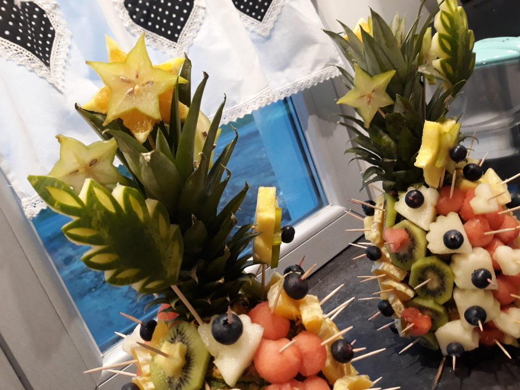 dekoracje owocowe, owoce na komunie, owoce na 18 stke, owoce na wesele