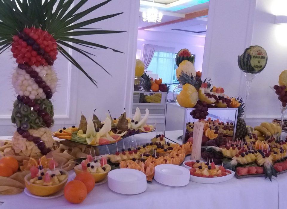 stół owocowy, dekoracje owocowe, fruit carving, bufet owocowy, palma owocowa Turek, Konin, Kalisz, Łódź