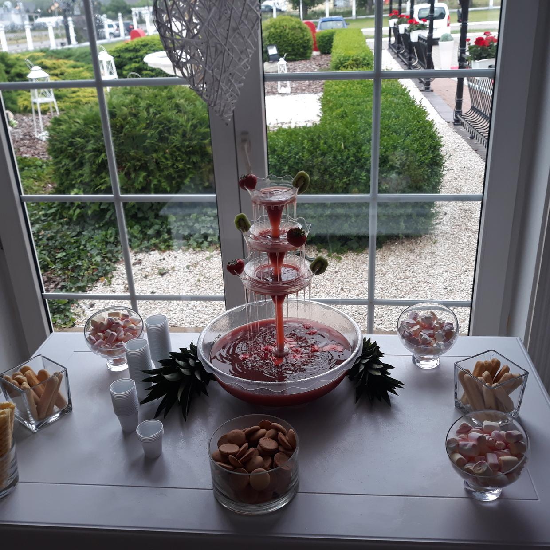 fontanna alkoholowa Carny Tulipan Koszalin, fontanna z czekolady, owoce na wesele, fontanna czekoladowa,
