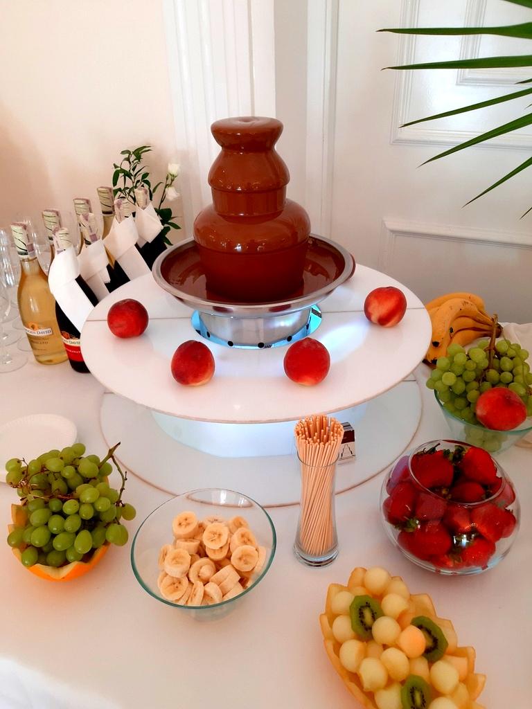 fontanna czekoladowa i palma z owoców Biały Pałac Konstantynów Łódzki