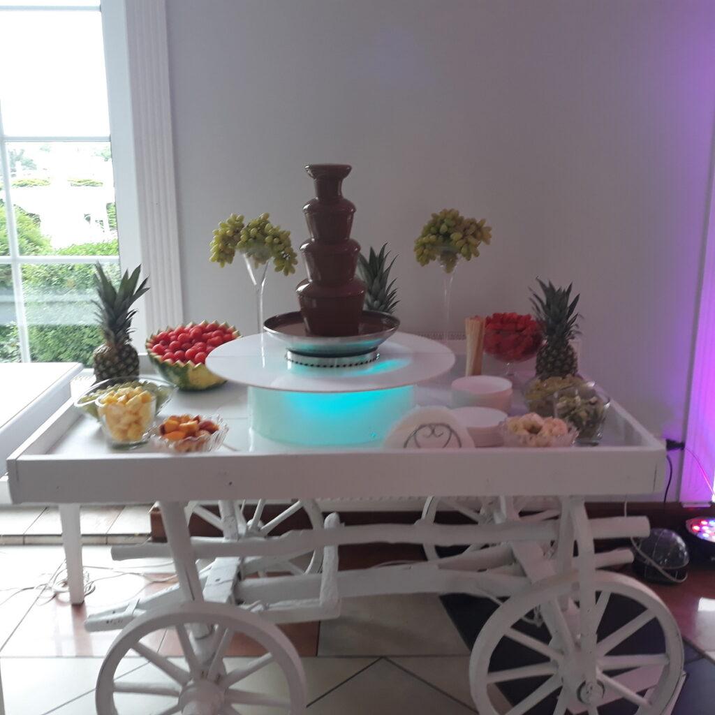 fontanna czekoladowa, owoce na wesele, fontanna z czekolady, fontanna alkoholowa Carny Tulipan Koszalin