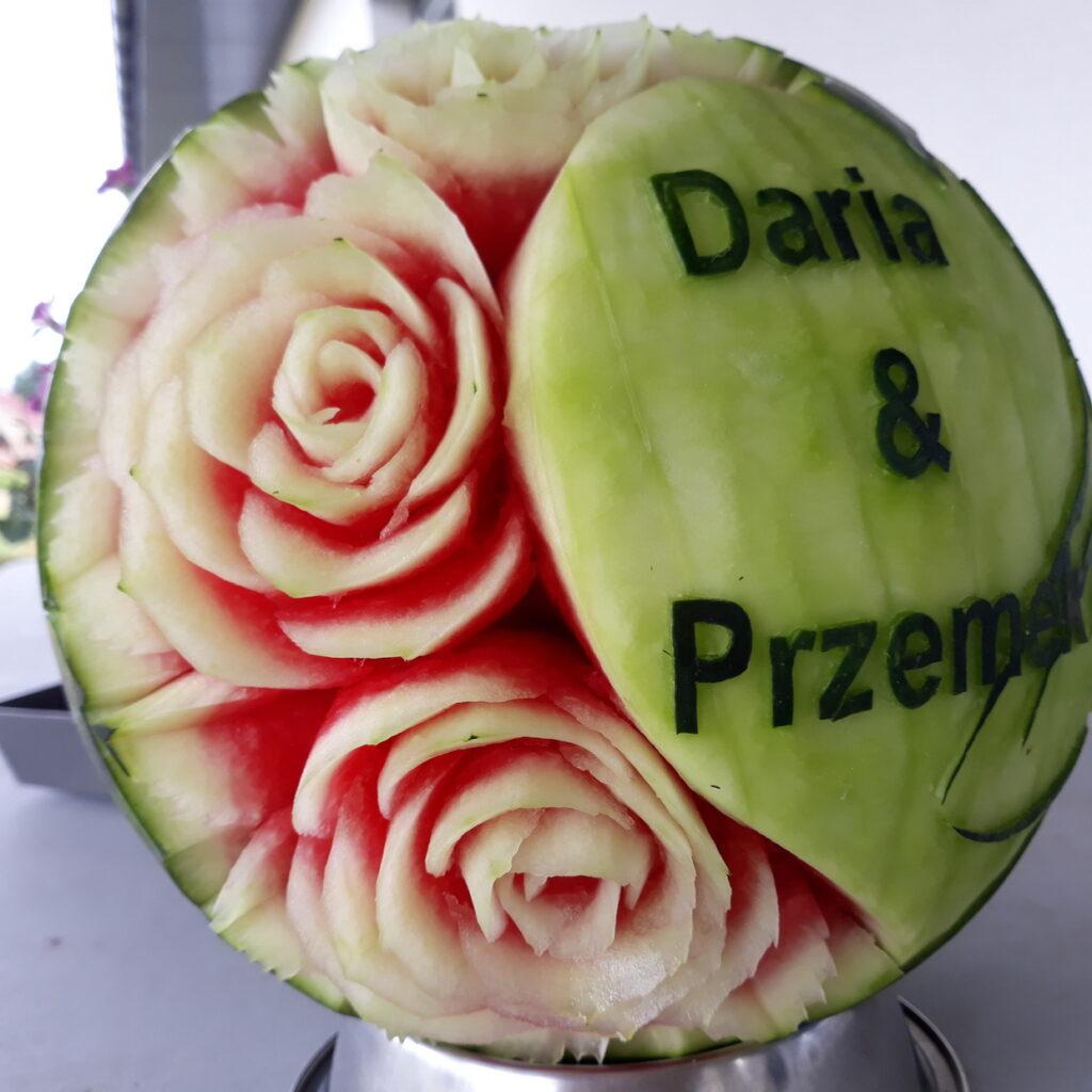 fruit carving, food art, dekoracje owocowe, stół z owocami Turek, Poznań, łódź, Warszawa