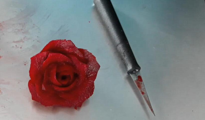 róża w buraku fruit carving
