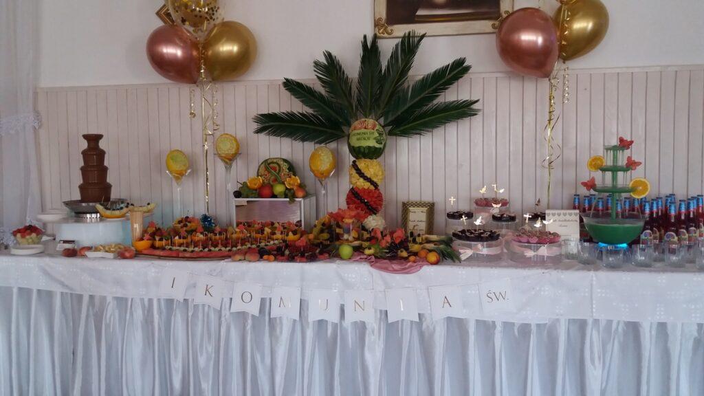 dekoracje owocowe, Stół owocowy, fruit carving, fontanna czekoladowa, fruit bar, bufet owocowy, fontanna alkoholowa