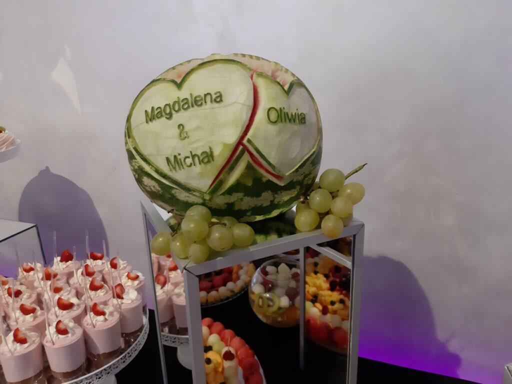 fruit bar, dekoracje owocowe,Stół owocowy, fruit carving Biały Dwór, dekoracje owocowe, bufet owocowy