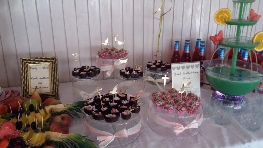 słodki Stół, candy bar, fruit carving, fontanna czekoladowa, dekoracje owocowe, fruit bar, bufet owocowy, fontanna alkoholowa