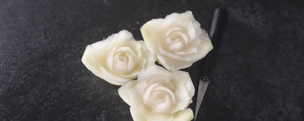 fruit carving, róża w kalarepie, dekoracje warzywne, dekoracje owocowe, warsztaty