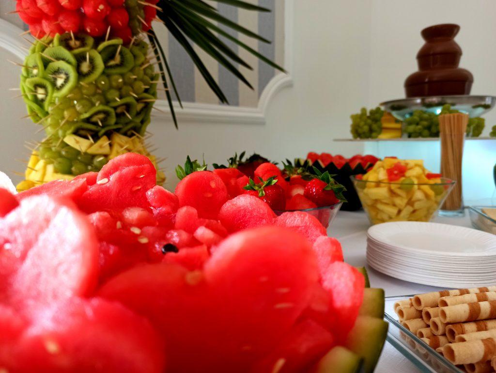 fontanna czekoladowa, palma owocowa, fontanna czekoladowa na komunię, fontanna czekoladowa na 18, palma owocowa, Turek