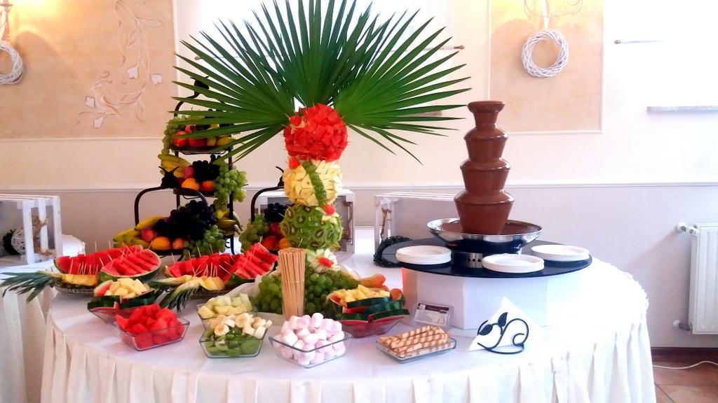 fontanna czekoladowa Pleszew, fontanna z czekolady Impresj Pleszew, palma owocowa Pleszew-001