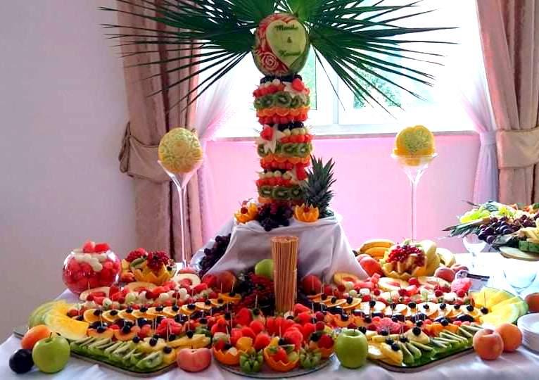 owocowy bar, stół owocowy, fruit carving, palma owocowa, dekoracje owocowe, owoce na wesele, owoce na imprezę, Turek, Konin, Klisz, Łódź