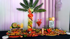 stół owocowy, fruit carving, dekoracje owocowe, owocowy bar, fruits bar